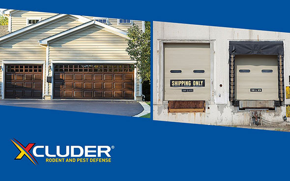Xcluder rodent mitigation products for residential and commercial doors.